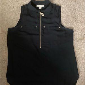 Tops - 🌲Michael Kors zip blouse 🌲